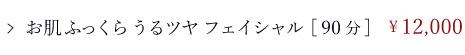 フェイシャルコース/はじめての方限定メニュー/お肌ふっくらうるツヤフェイシャル[90分]/¥12,000
