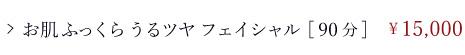 フェイシャルコース/通常メニュー/お肌ふっくらうるツヤフェイシャル[90分]/¥15,000