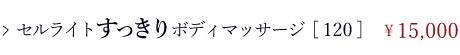 ボディコース/通常メニュー/セルライドすっきりボディマッサージ[120分]\15,000